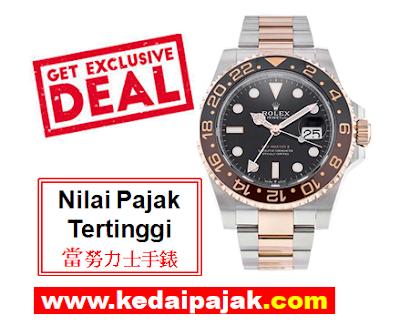 Pajak Rolex (Rolex GMT Master II Dipajak Dengan RM50,000) - kedaipajak