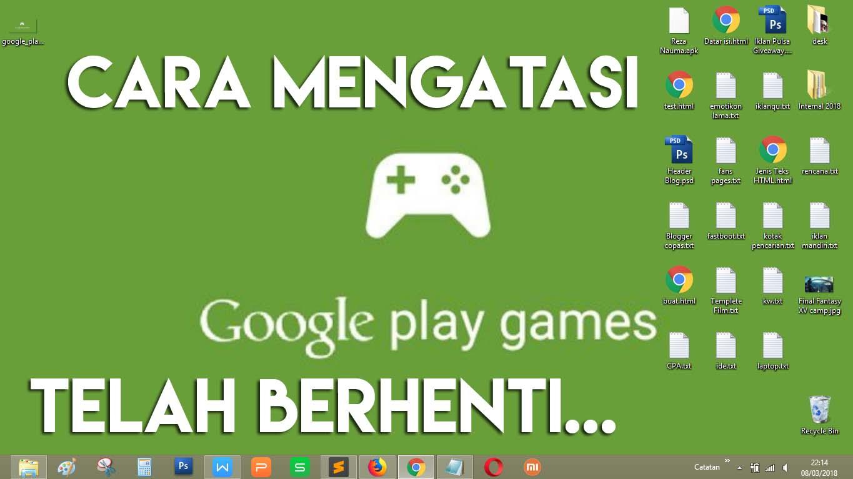 cara mengatasi google play games tidak