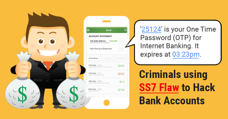 Real-World SS7 Attack — Hackers Are Stealing Money From Bank Accounts