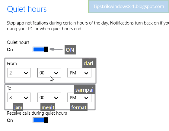 quiet hours di windows 8.1 -- cara mengatur dan menghilangkan notifikasi di windows 8.1