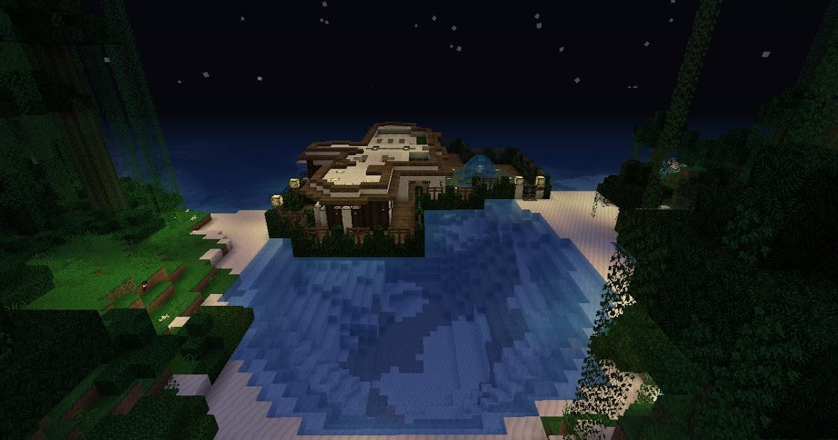 My Minecraft Constructions: Minecraft Semi Underwater Mansion