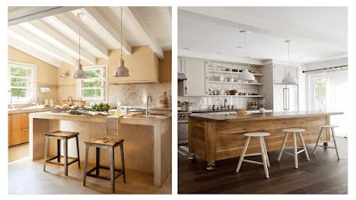 Barras de madera para cocina