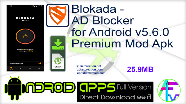 Blokada – AD Blocker for Android v5.6.0 Premium Mod Apk
