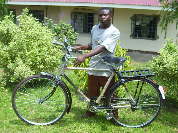 A NEW BIKE FOR MOSES ASABA