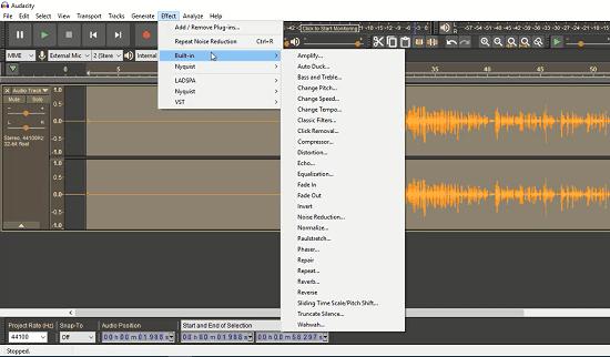شرح Noisgate و Noise Reduction في Audacity تنقية وتصفية الصوت وإزالة التشويش والضوضاء