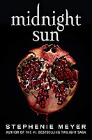 A cover of Midnight Sun showing a half of a pomegranate on black background.