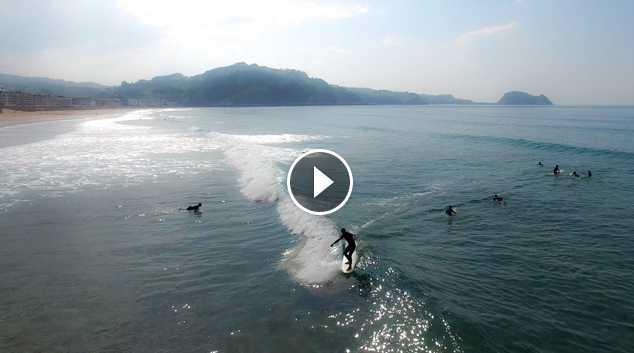 Surfing Zarautz Blon Session Spring 2016