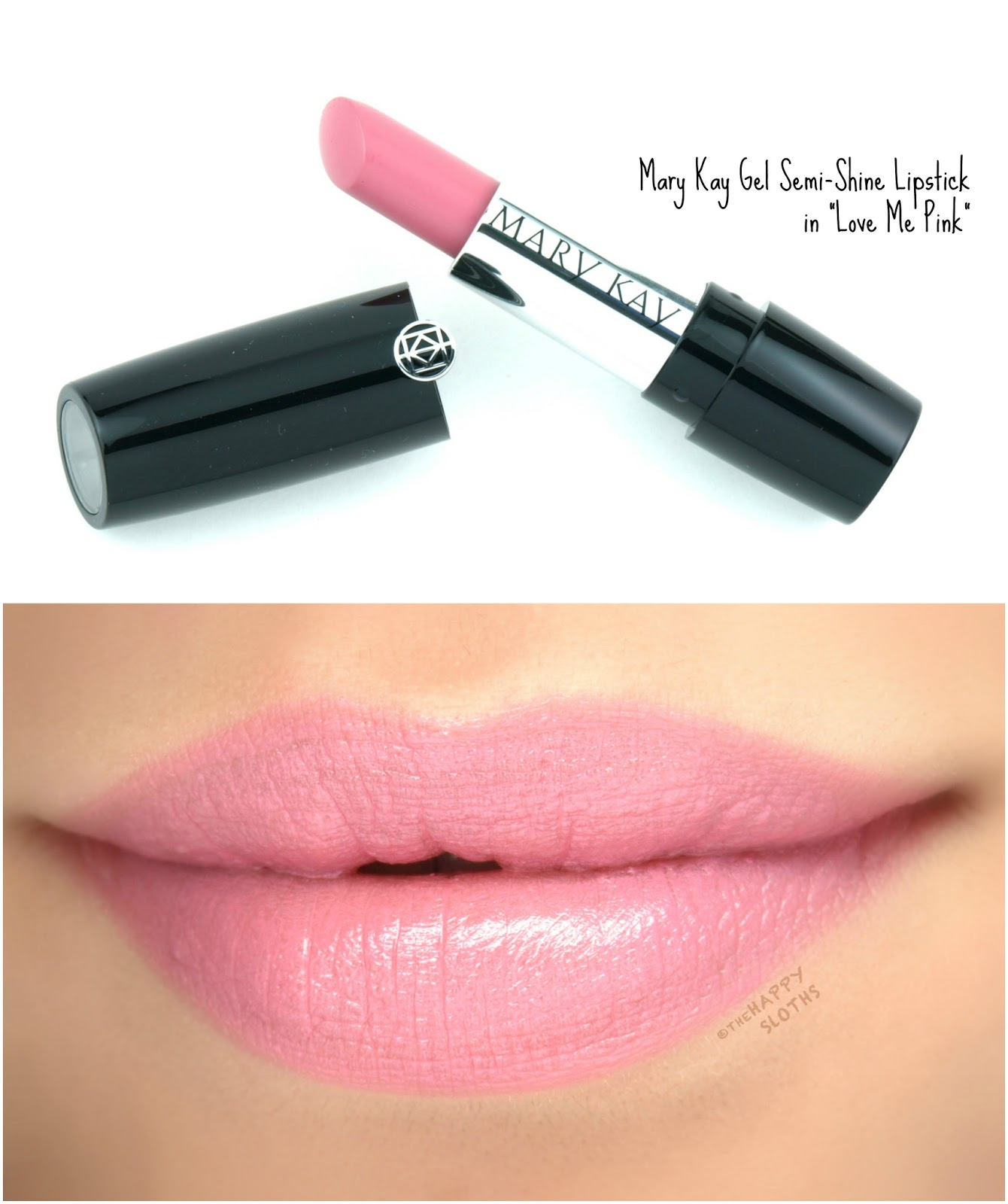 "Mary Kay Gel Semi-Shine Lipstick in ""Love Me Pink"": Review and Swatches"