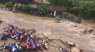 Banjir SMAN 2 Bogor 27 Februari 2017