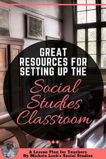 Read this great post on 6 perfect resources for setting up and decorating your Social Studies classroom! It is filled with great ideas that will not only create a nice #classroom climate, but they will also help you form a great #learning community. #teaching #iteach678 #iteachmiddleschool #middleschool #socialstudies #teacherspayteachers #teachersofinsta #teachering #tpt #decor