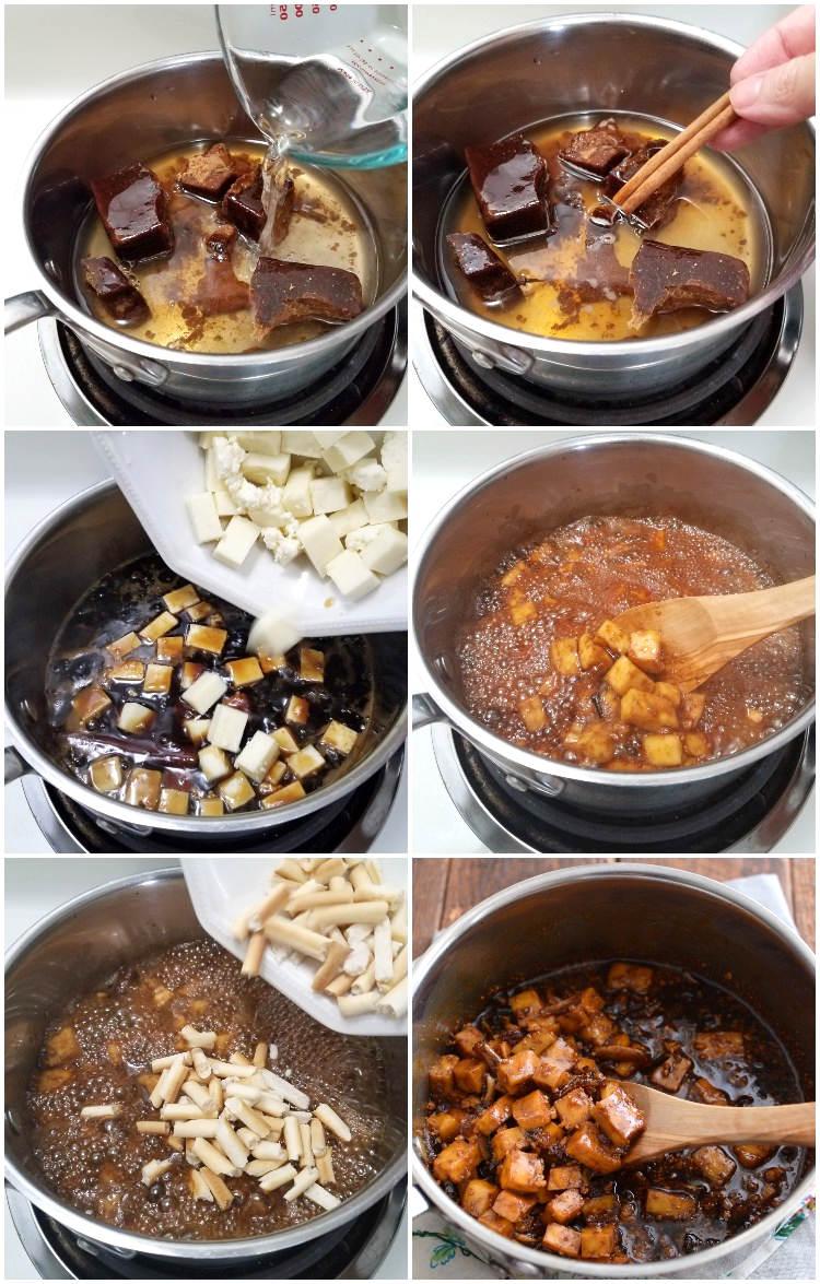 Preparación del dulce de curruchete