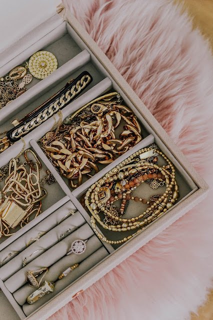 My Stackers blush pink jewellery box gold