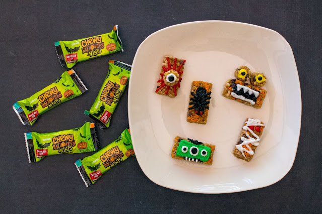 How to Make Chewy Halloween Mini Bar Monsters