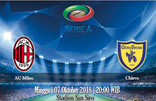 Prediksi AC Milan vs Chievo 7 September 2018