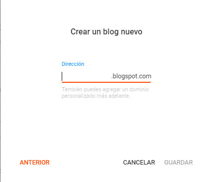 como crear un blog en google