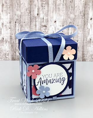 Treat Week 2021 Day 4 - You Are Amazing Paper Blooms Candle Gift Box Click to learn more!