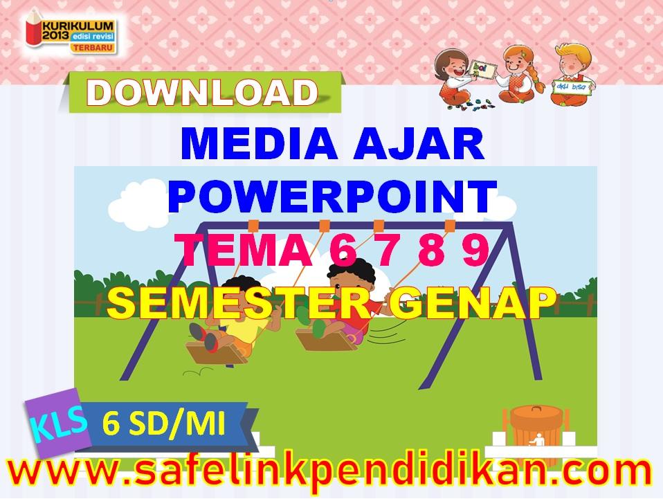 Media Ajar Powerpoint Tema 6 7 8 9 kelas 6