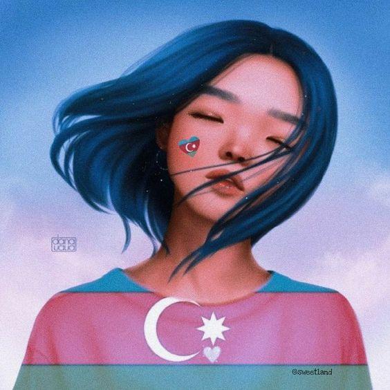 Azerbaycan Cumhuriyetinin Devlet Bayrağı Gününe Özel Profil Ve Kapak Fotoğrafları.  Bayanlar İçin