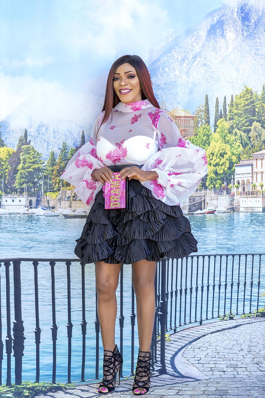 Tiered Pleated Skirt + Print Sheer Top