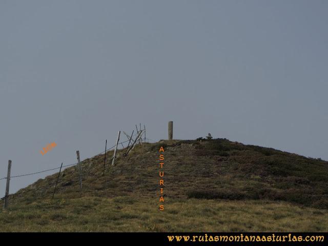 Ruta Pico Cellón, llegando a la cima del Cellón
