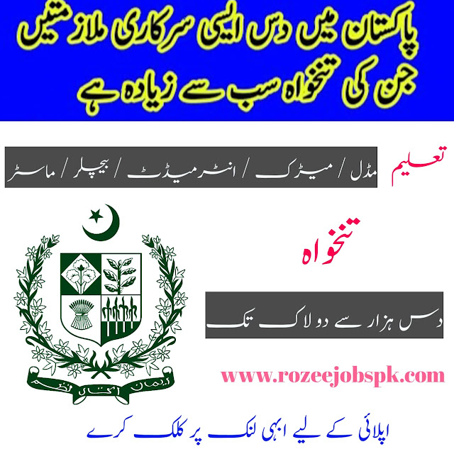 Highest Paid Government Jobs In Pakistan