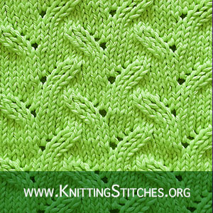 LACE KNITTING - Alternating Leaves lace stitch pattern #laceknitting #lacestitch