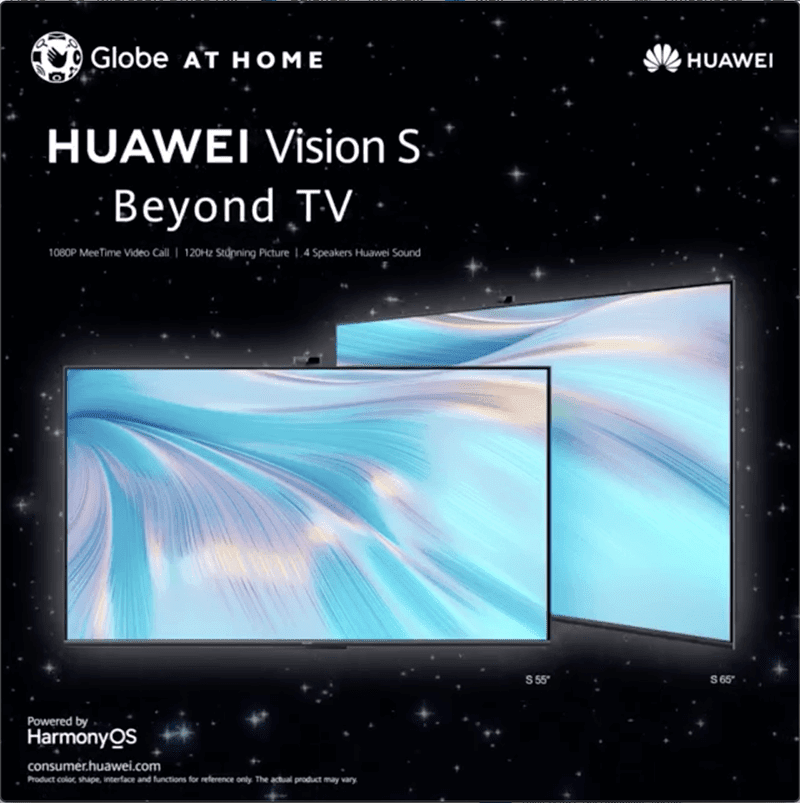 Globe At Home Subscribers will get a chance to win a Huawei Vision S television