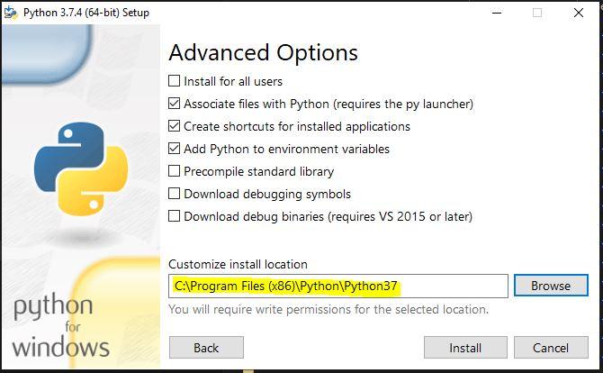 python install step 3