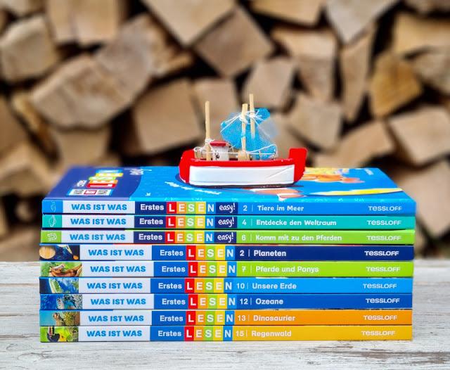 WAS IST WAS Erstes Lesen: Spannende Sachbücher für Leseanfänger. Ich stelle Euch die leicht verständlichen Bücher zum Selberlesen zu mitreißenden Themen wie Ozeane, Pferde, Dinosaurier und Weltraum für Erstleser auf Küstenkidsunterwegs vor!