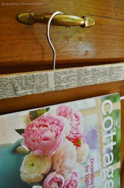 The Cottage Journal on  a DIY display hanger