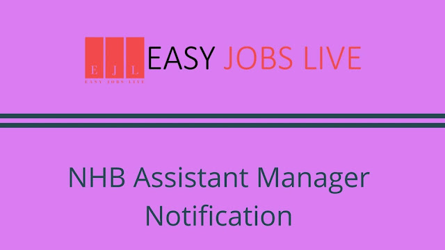 NHB Assistant Manager Notification