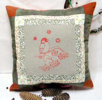 Новогодние подушки 40 х 40 см, натуральный хлопок и натуральный лен. Чехлы съемные, на молнии. Ручная работа