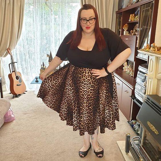 Hell Bunny Leopard Print Skirt