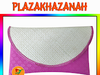Clutch Pandan Polos Kombinasi Kairo Pink Fanta