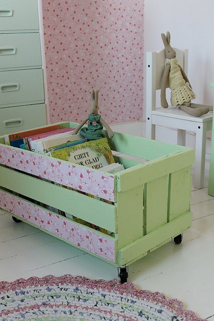 Decorate with old wooden crate boxes 3
