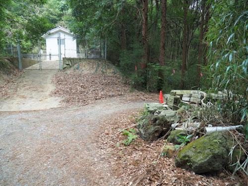 雨引観音の登山道入口