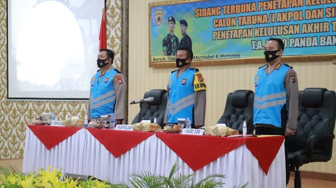 Polda Banten Umumkan Calon Taruna/I Akpol dan Tamtama Polri T.A. 2020, Kapolda Kirim Peserta Terbaik
