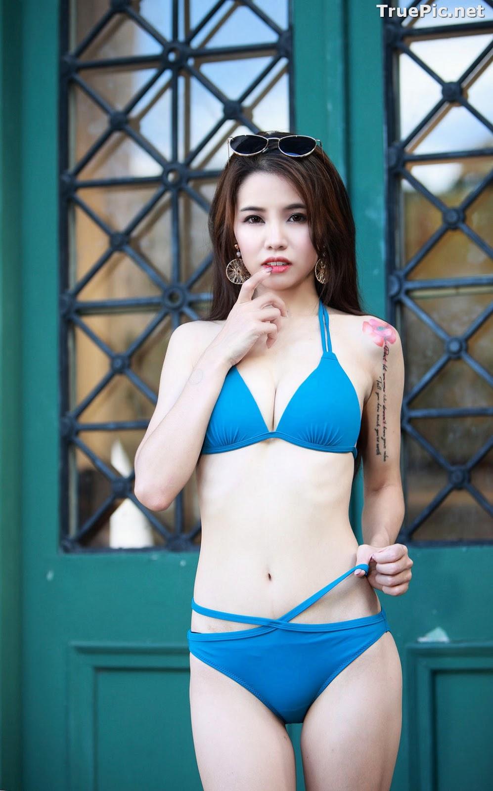 Image Taiwanese Beautiful Model - Debby Chiu - Blue Sexy Bikini - TruePic.net - Picture-5