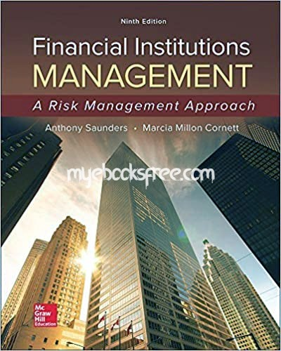 Financial Institutions Management Pdf Book 9e by Saunders and Cornett