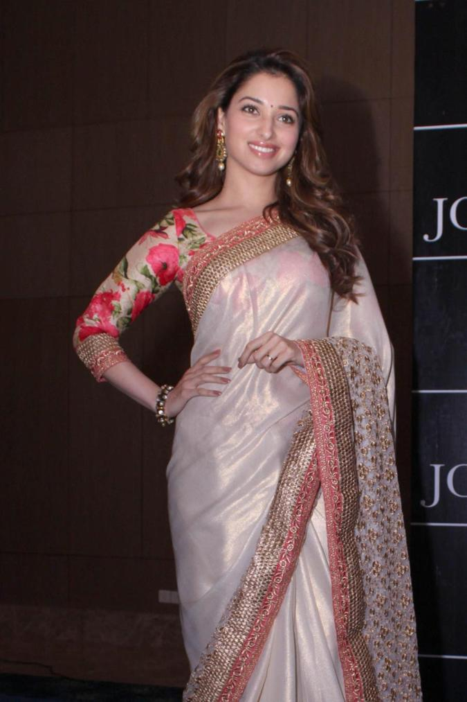 Beautiful Marathi Model Tamannaah In Transparent White Saree