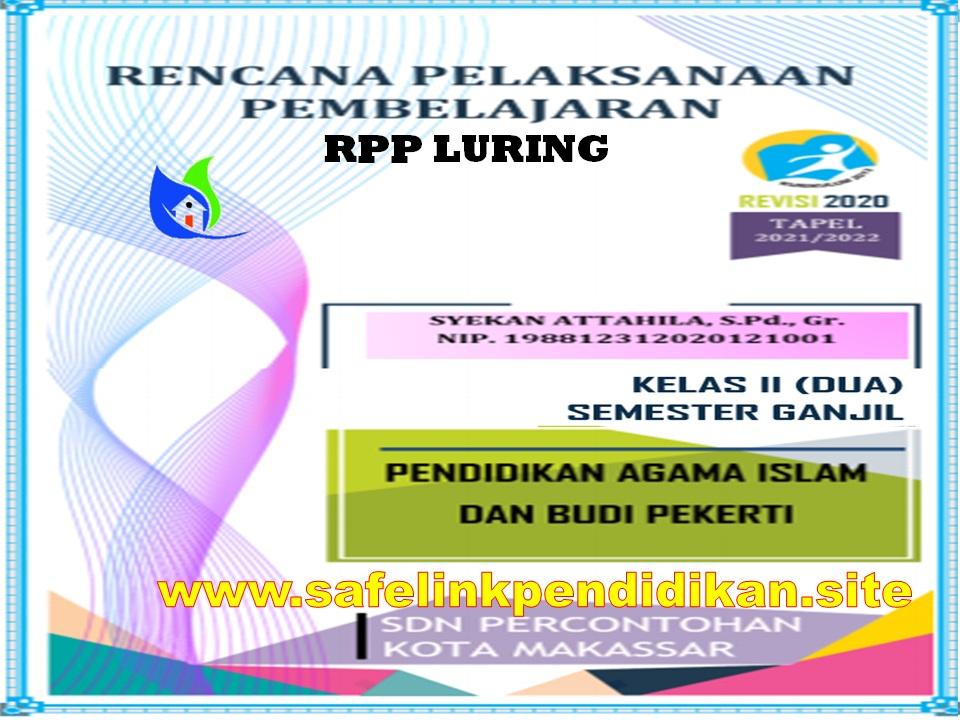Contoh RPP Luring 1 Lembar PAI Dan BP Kelas 2