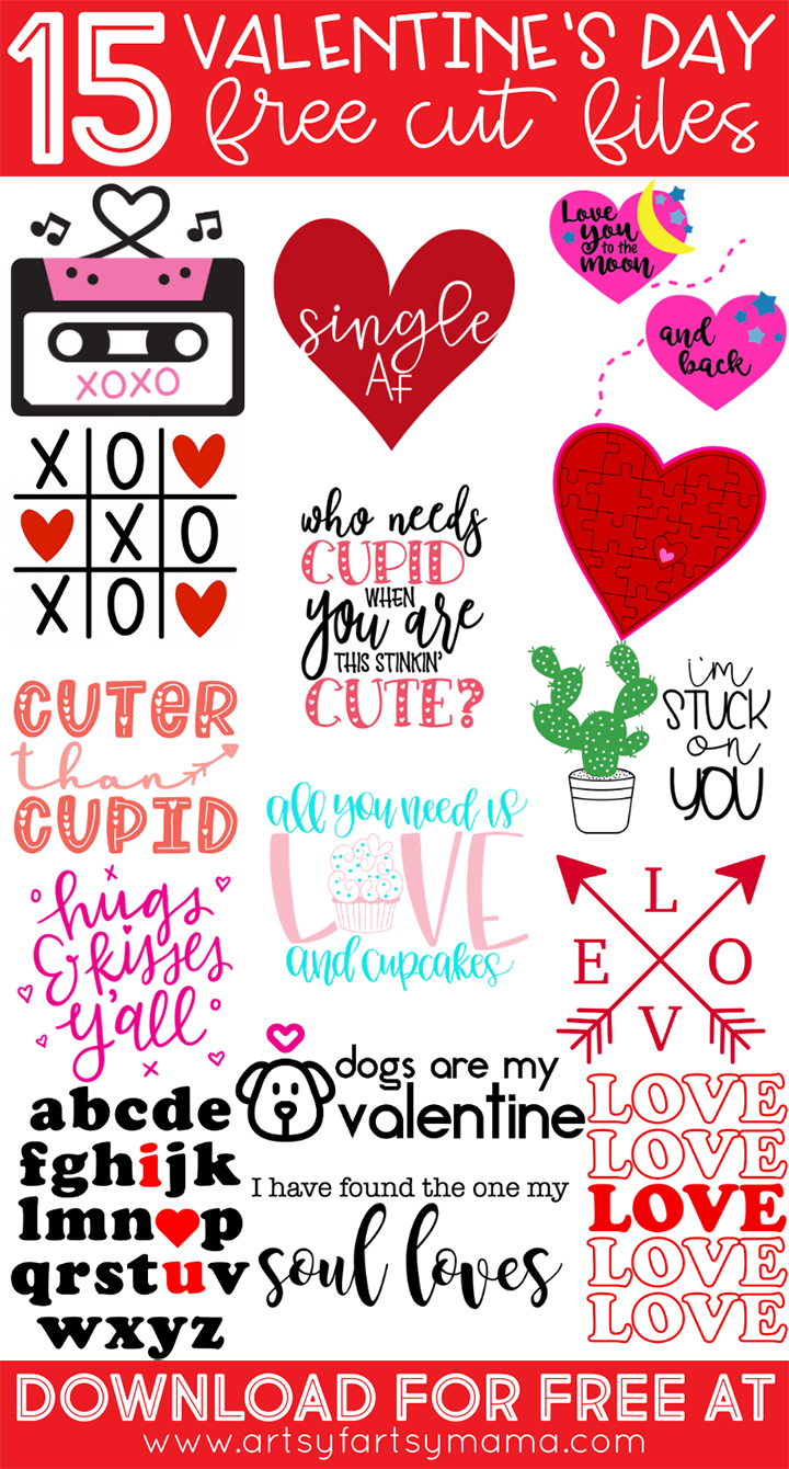 15 Free Valentine Cut Files