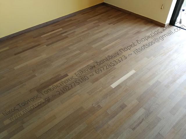 Αλλαγή χρώματος σε ιρόκο ξύλινο πάτωμα
