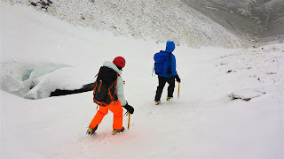 Winter skills crampon practise and crevasses