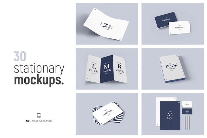 30 Stationery Mockups Best Collection