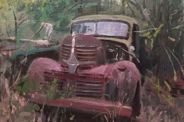 JOE GYURCSAK Patina Acrylic on Panel $1,400