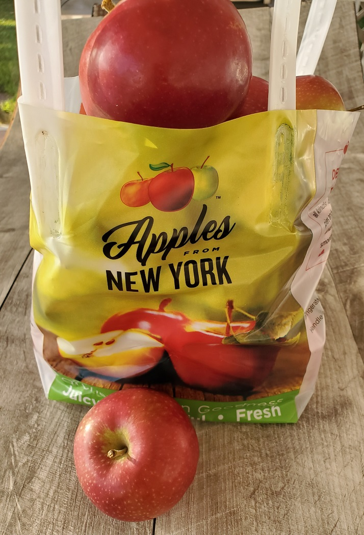 this is a bag of apples in a bag from New York State