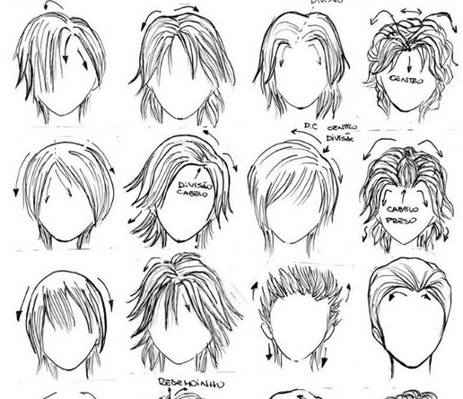 of anime boy hairstyles