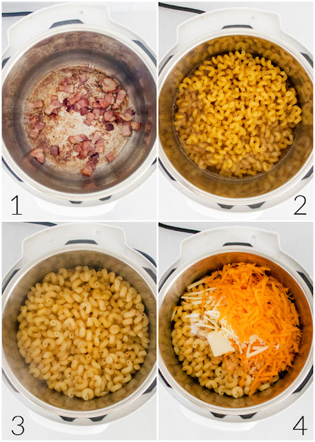 Instant Pot Bacon Macaroni and Cheese process photos
