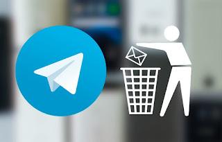 حذف رسائل تليجرام